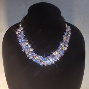 Chunky Blue Bling Necklace